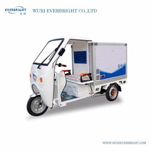New design electric ice cream fresh food storage mini food truck three wheel tricycle with refrigerated container