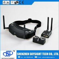 SKY-02 5.8ghz 32ch 3D fpv video goggle sets includes fpv glasses/fpv transmitter/fpv camera