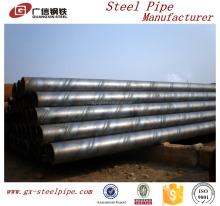 hot sale low carbon sch40 large diameter galvanized welded steel pipe
