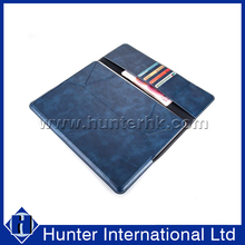 Standable Blue PU Leather Tablet Case For 10-11 Inch