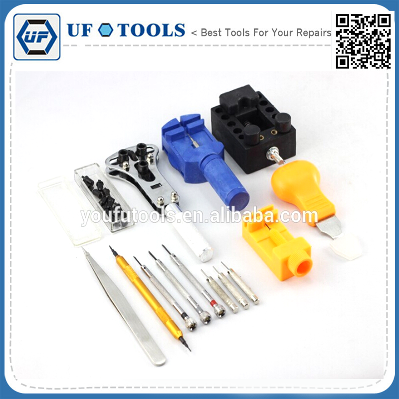 cheap Pro 13 Pcs Portable Watch Repair Tool kit for famous brand watch with bag