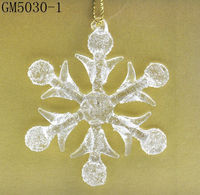 christmas crystal snowflake decoration