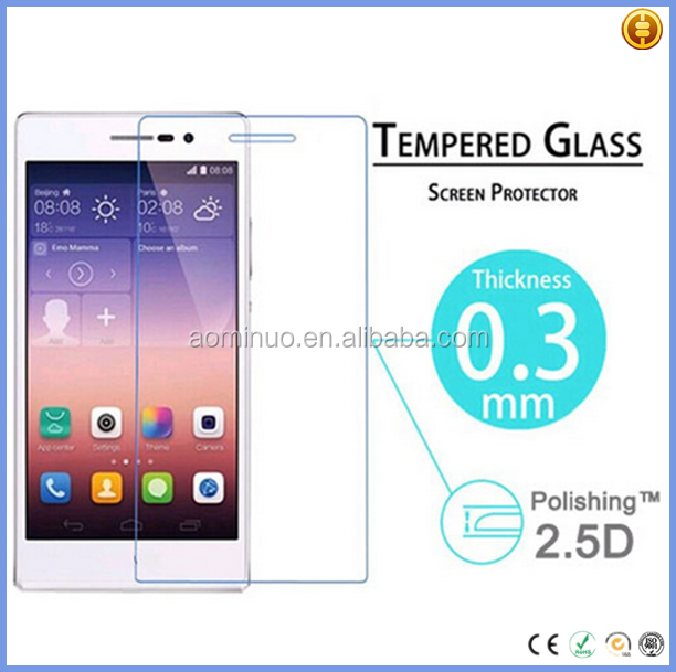 New top glass blue film scratch resistent explosion-proof mobile phone security tempered glass screen protector for huawei p7