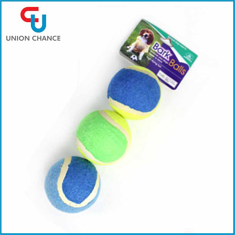 3pcs Dog Funny Toy Tennis Balls Run Fetch Throw Play Toy Chew Toys For Dogs