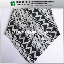XLH619 Fashion geometry design black &white color woven 55% cotton 45% polyester poplin jacquard fabric