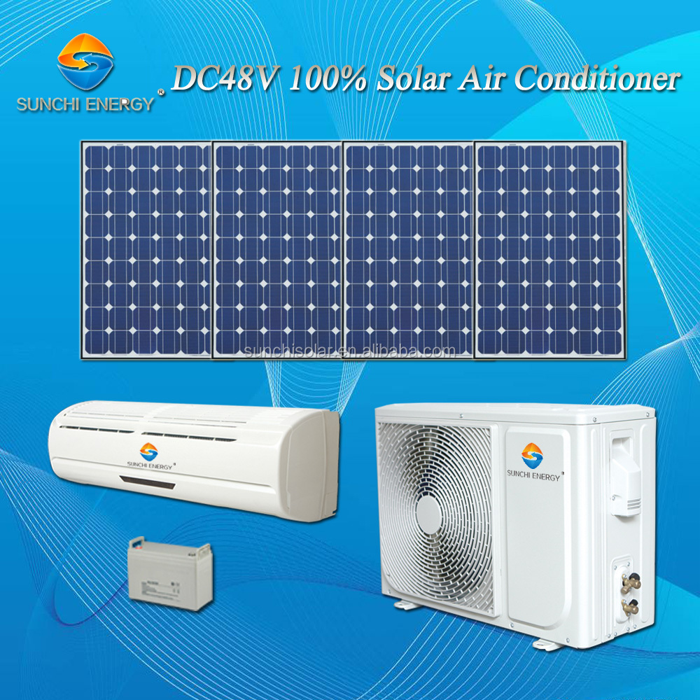 DC48V variable 100% without AC power 12000BTU 18000BTU split solar air conditioner in kerala
