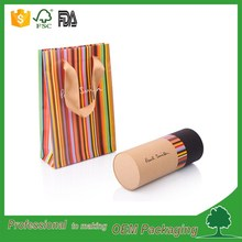 luxury elegant packaging paper tube clothing packaging round box eco friendly kraft t-shirt paper tube