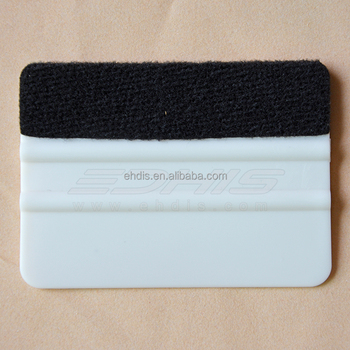 A46F white card squeegee with fabric edge