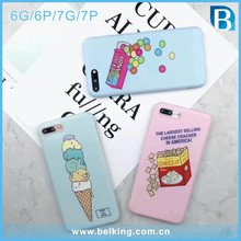 For iphone 7 custom design Imd print cell phone case matte ice-cream Biscuits tpu case designer case for girls