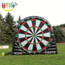 PVC Tarpaulin Giant Soccer Darts Game Inflatable Foot Darts giant adult outdoor toys for party rental