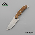 Hunting knife with hard wood handle