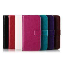 wallet leather case For HTC M8 MINI , Brand new Perfect Wallet Leather case with stand function mix colors wholesale