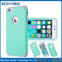 guangzhou mobile phone accessories, mobile decorative accessories, two in one cell phone case for iPhone 6