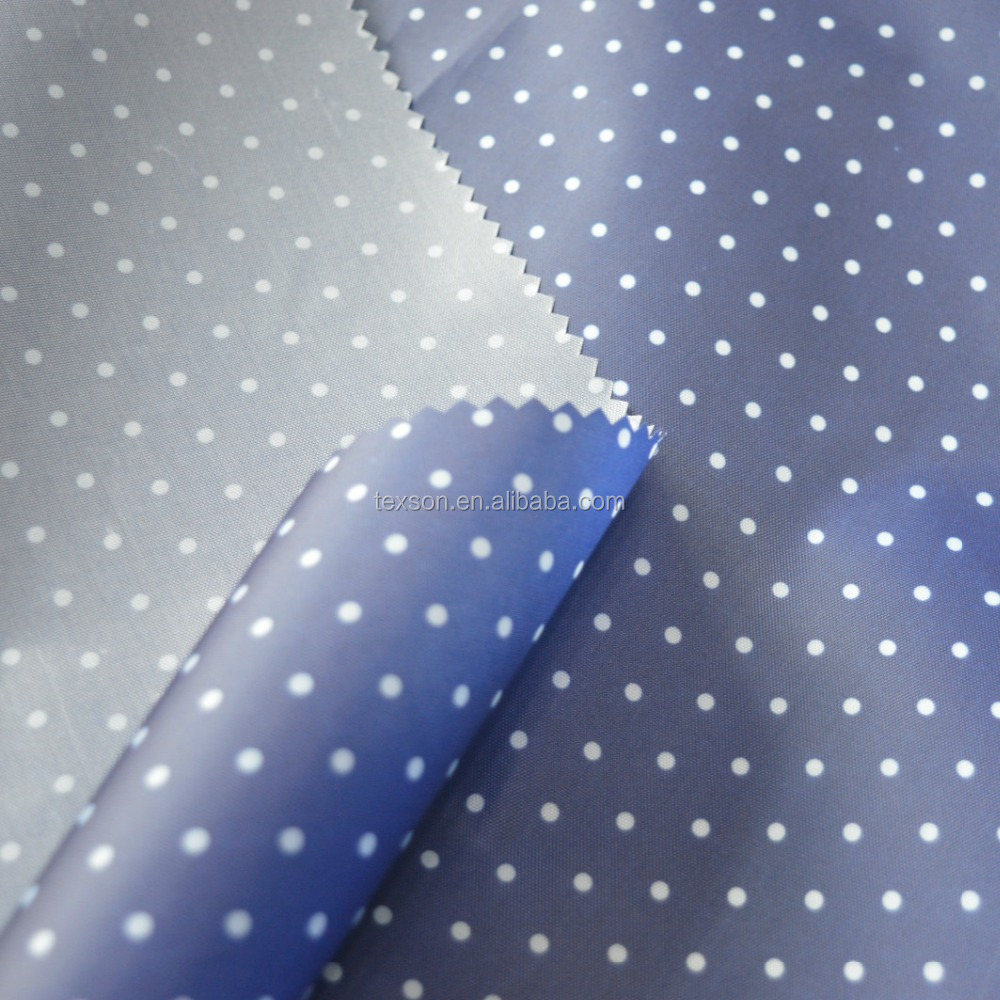 100 percent polyester fabric printed 210D oxford with PU coating