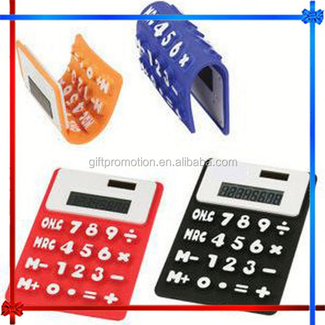 CY75 8-digit Silicone calculator with backlight