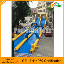 Crazy commercial giant adult inflatable slide ship entertainment