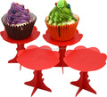 plastic single-serving cupcake stand Individual Cupcake Stands