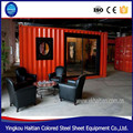 Modular cheap prefab steel and glass container house for restaurant hotel coffee office