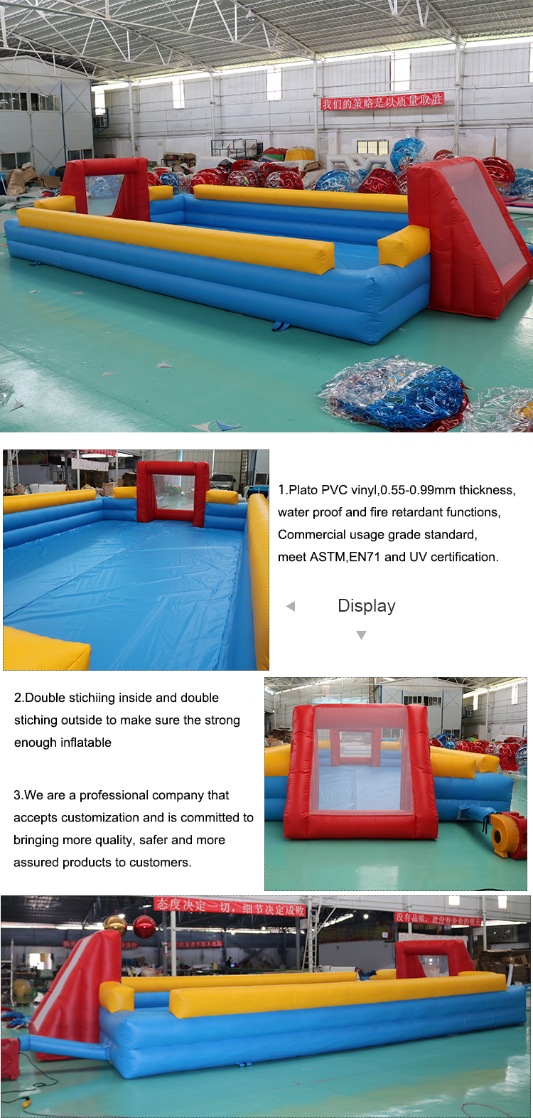 Wholesale Outdoor Inflatable Soccer Field Inflatable Football Pitch Inflatable Football Arena Court