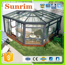 Tempered glass and aluminium frame ready wood house