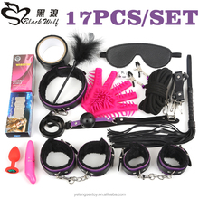 BLACK WOLF brand gear rope restraint kit set sex games cheap suit fetish exciting male leather adult sex bondage