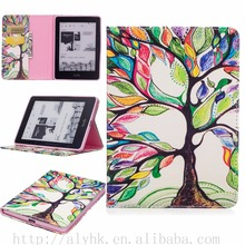 2017 New Flip Book Style Leather Cover For Kindle Voyage E-reader Tablet case