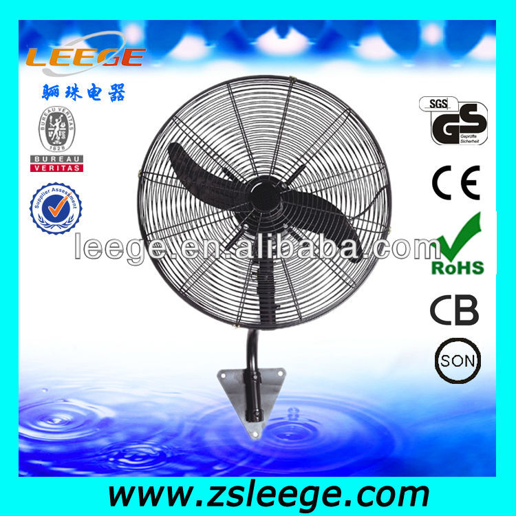 high speed industrial wall mounted fan / metal industrial wall fan