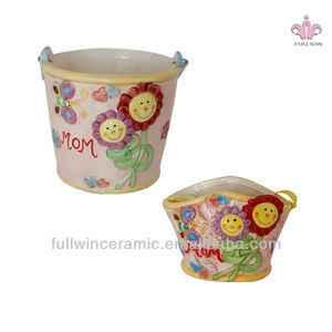 2019 new design Cartoon hand print multiple colour Art style ceramic cup,novelty mothers day gifts