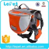 factory wholesale comfortable outdoor travel walking hiking waterproof dog saddle bags