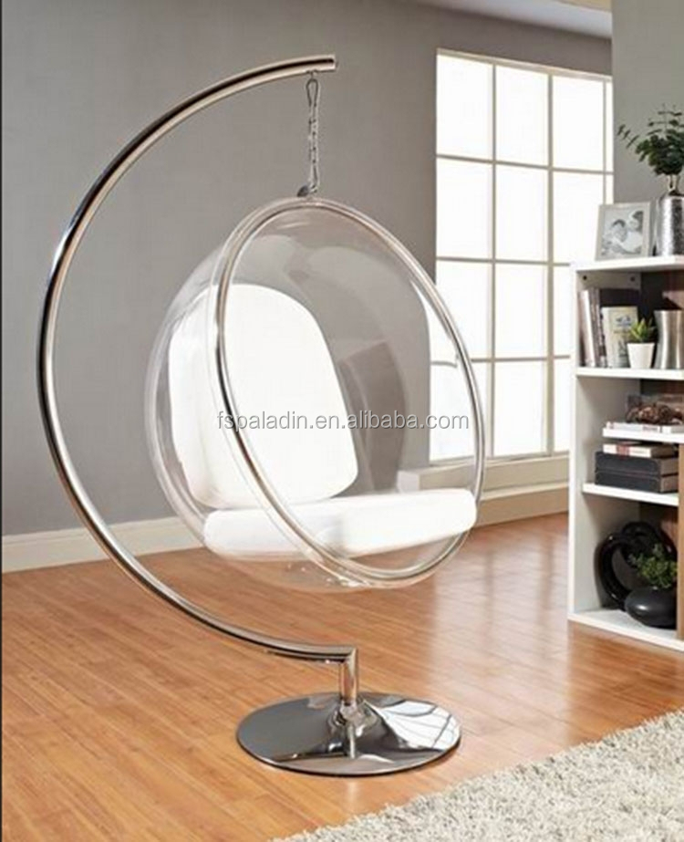 acrylic swing bubble chair with stand
