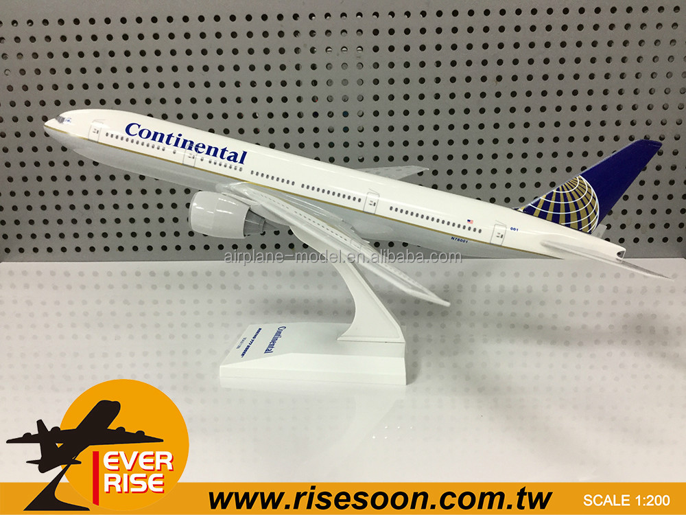 Boeing B777-200 Continental Airlines Scale 1:200 Airplane model