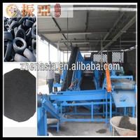 china supplier tire shredding plant/waste tire recycling machine