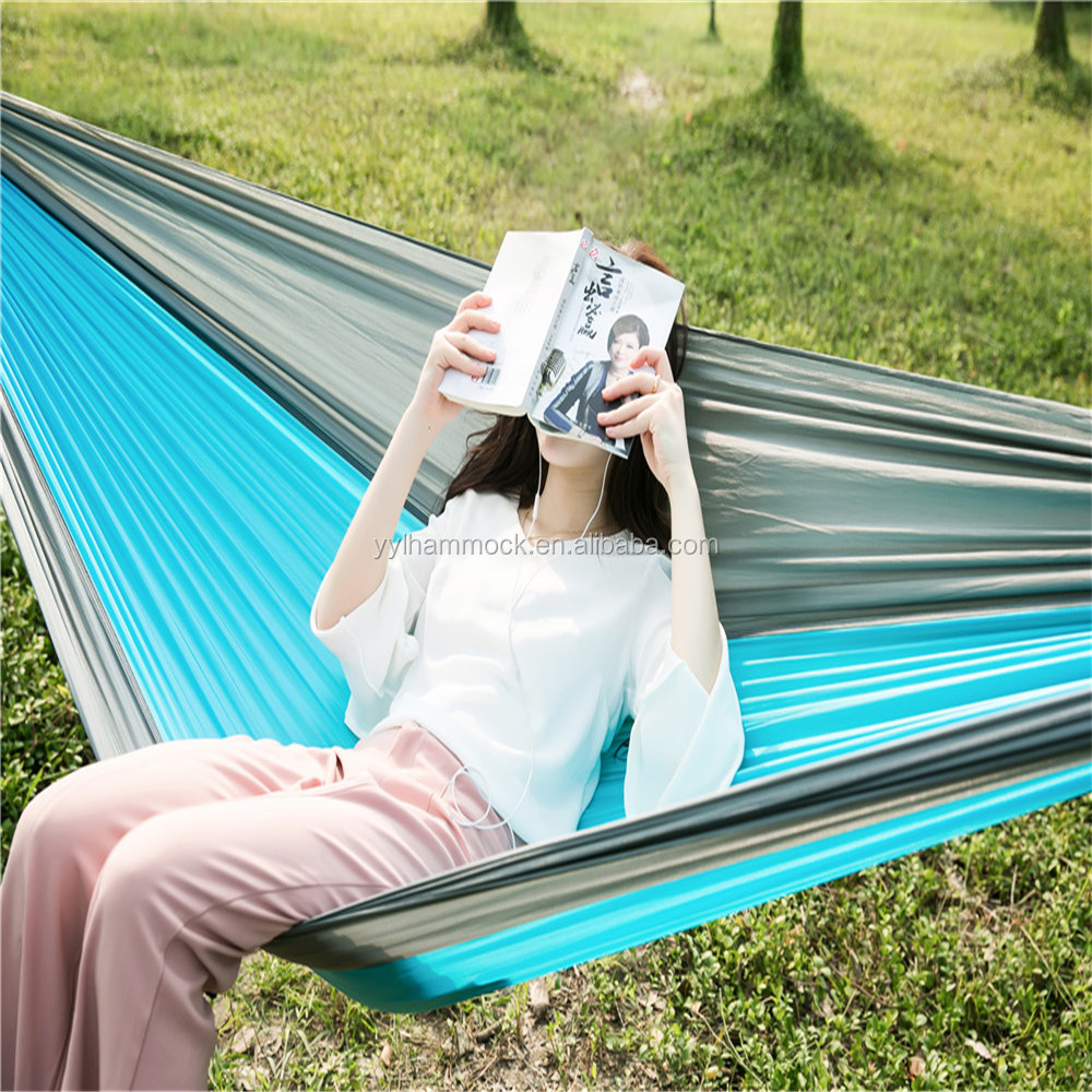 High Quality Leisure Ways Protable Nylon Double Round Camping Hammock