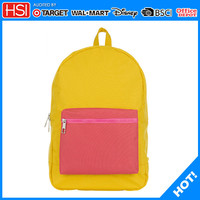 wholesale 600D yellow and orange color backpack laptop