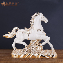 China customized horse resin model kit figures exhibition souvenirs