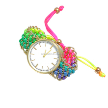 Big White Simple Case Braided Fancy Ladies Watches Wholesale