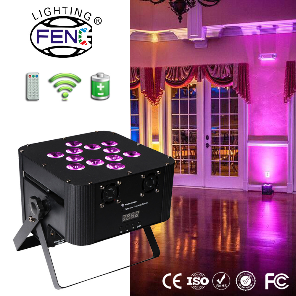 Guangzhou OEM ODM factory price 12 x 15watt led light source hanging rotating party light