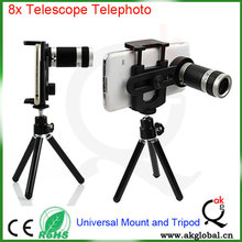 Smartphone Cellphone Camera Lens 8X Zoom Telephoto Telescope Phone Case Lens for iPhone X Samsung S4 S8 Zoom