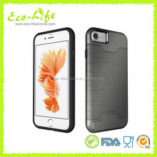 iPhone7 Armour Cellphone Cover with Card Slot PU+ TPU inside Phone Case