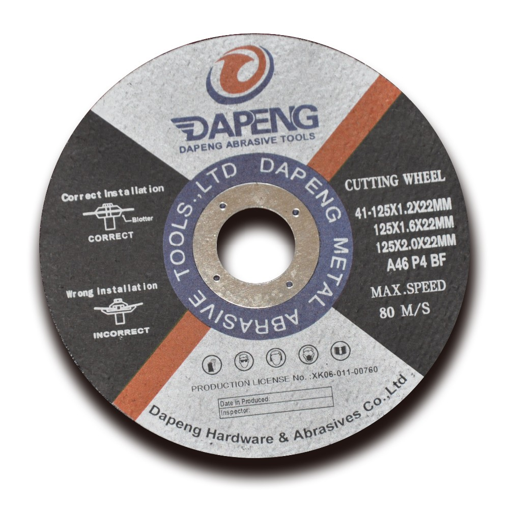 5'' 125x2x22mm iron cutting disc for angle grinder