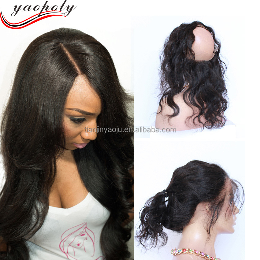 360 Lace Frontal Wig Human Hair Wave Lace Frontal With 360 Full Lace Band Frontal Closure