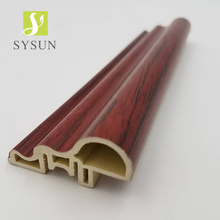 China PVC baseboard Plastic wall basement skirting