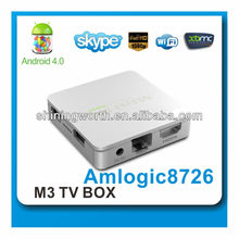google android 4.0 smart tv box support 3D games and air mouse