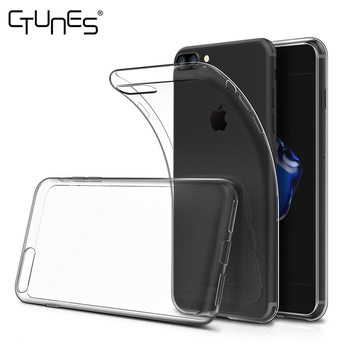 For iPhone 7 Plus Cover,Soft TPU Crystal Clear Transparent Slim Anti Slip Back Case Cover Shockproof For iPhone 7 Plus