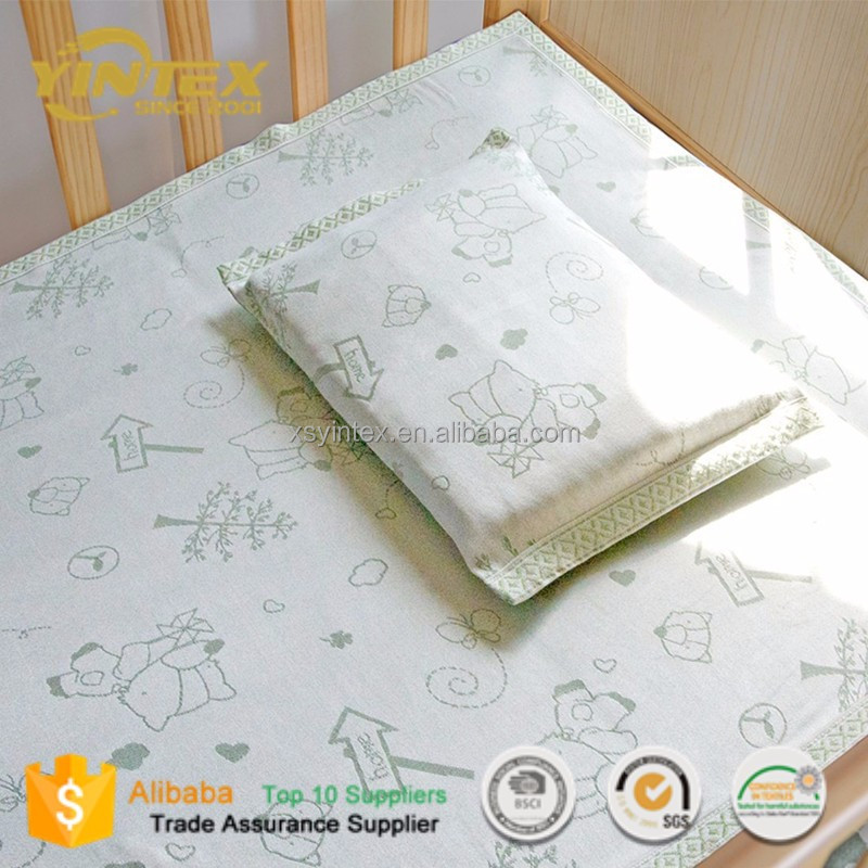 Eco-friendly Products 2017 100% Cotton Bed Sheet Bedding Set for baby
