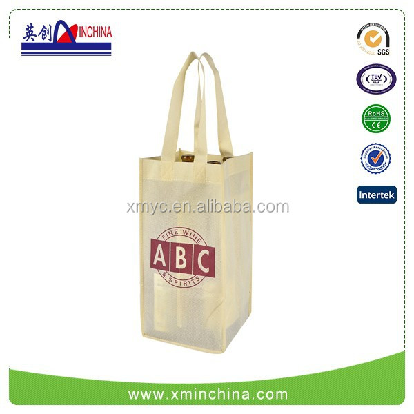 Custom Non-woven Polypropylene Wine Shopping Bag
