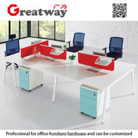 Luxury office furniture supplier 25mm MDF/MFC panel manager desk wood office executive table (QE-40F2)