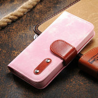 hot selling cash holder wallet leather flip case for iphone 5s 5g + three card slot