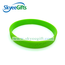 "Custom 0.5"" debossed ink filled Silicon Wristband/wholesale custom bulk silicone band /silicone gift"
