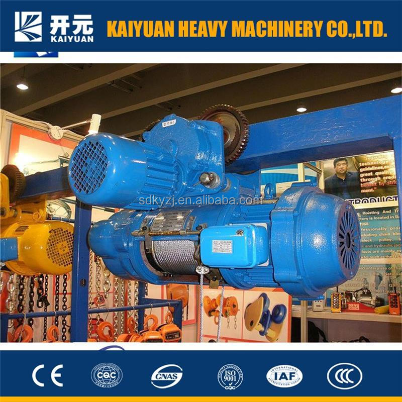Kaiyuan making useful 10 t light duty crane called wire rope electric hoist for users from Kenya and Tanzania